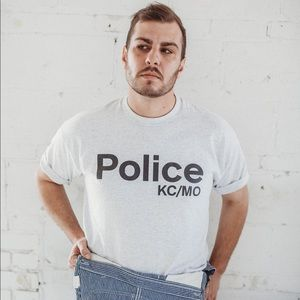 Vintage 90s KCPD Police single stitched t-shirt